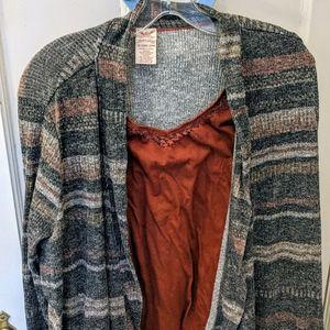 Sweater camisole combo Faded Glory 2X 20